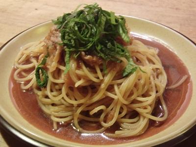 豚肉と大葉のおろし和風スパゲティ